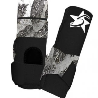 5 Star Patriot Sport Support Boot with Feather Accent Leather - Rear