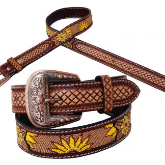 Rafter T Belt - Beaded Sunflower