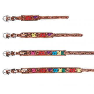 Rafter T Dog Collar - Flower Tooling