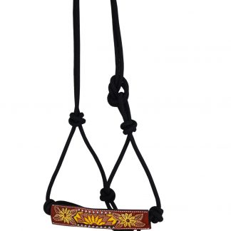 Rafter T Rope Halter w/ Beaded Sunflower