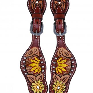 Rafter T Kids Spur Strap w/ Beaded Sunflower