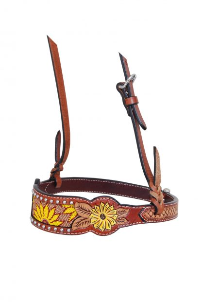 Rafter T Noseband w/ Beaded Sunflower