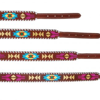 Rafter T Dog Collar - Hand Painted Aztec