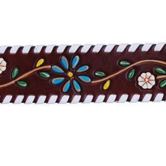 Rafter T Cuff Bracelet w/ Floral Vine
