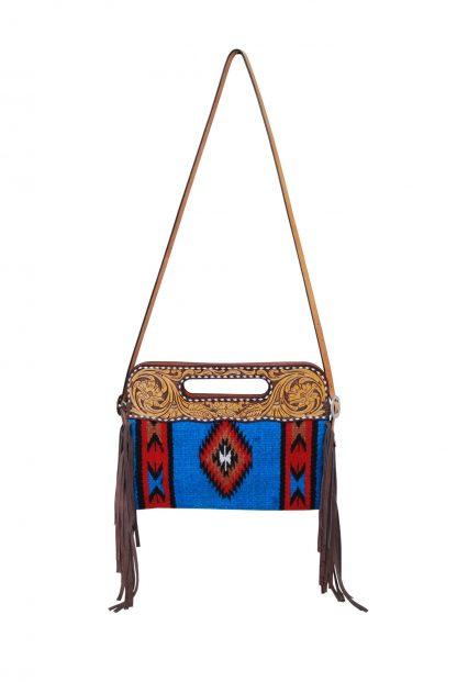 Rafter T Clutch/Cross Body Bag - Blue
