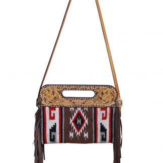 Rafter T Clutch/Cross Body Bag - Brown