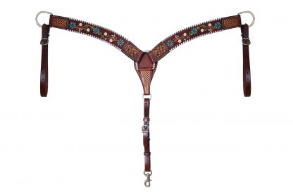 Rafter T Breast Collar w/ Floral Vine 3""