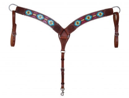 Rafter T Breast Collar w/ Painted Aztec