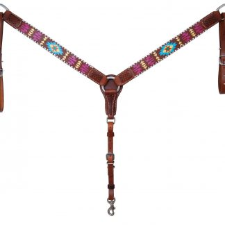 Rafter T Breast Collar w/ Painted Aztec 1.5""