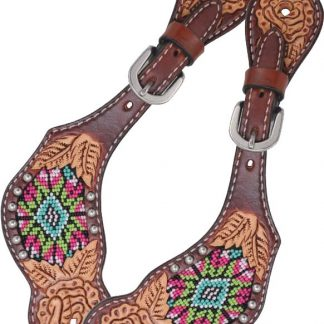 Rafter T Kids Spur Strap w/ Beaded Inlay
