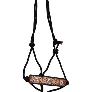 Rafter T Rope Halter w/ Daisy Flower