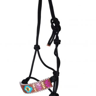 Rafter T Rope Halter w/ Painted Aztec