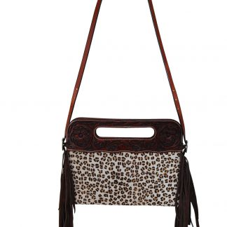 Rafter T Clutch/Cross Body Bag - Leopard