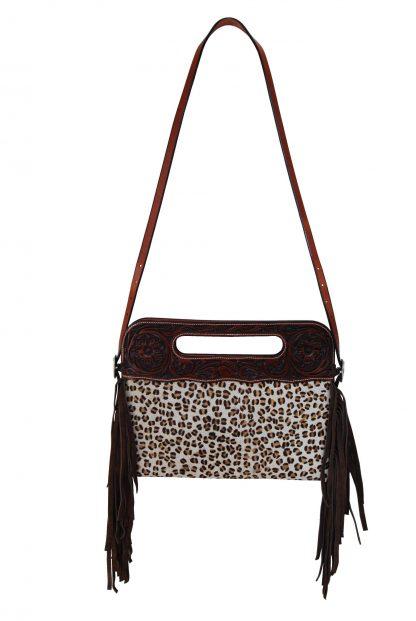Rafter T Clutch/Cross Body Bag - Leopard