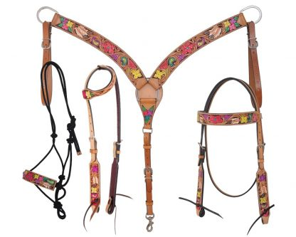 Rafter T Tack Set - Painted Floral Collection